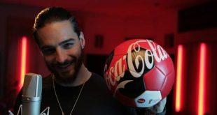 Maluma #listo para ser la voz del himno de Coca-Cola para la CopaMmundial de la FIFA 2018
